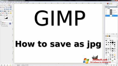 Zrzut ekranu GIMP na Windows 10