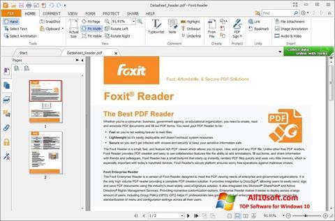 Zrzut ekranu Foxit Reader na Windows 10
