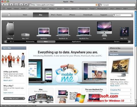 Zrzut ekranu Safari na Windows 10