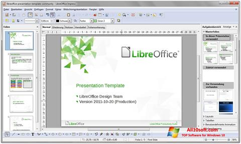 Zrzut ekranu LibreOffice na Windows 10