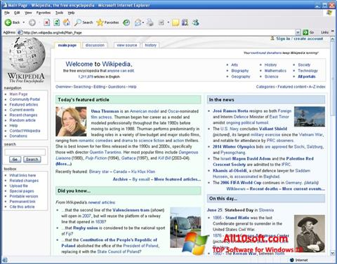 Zrzut ekranu Internet Explorer na Windows 10