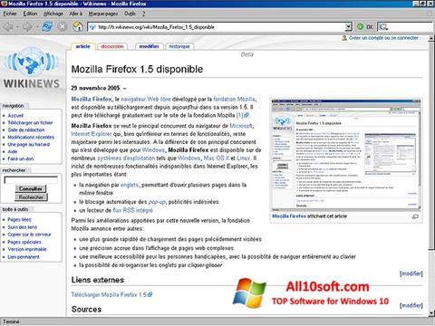 Zrzut ekranu Mozilla Firefox na Windows 10