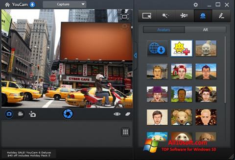 Zrzut ekranu CyberLink YouCam na Windows 10