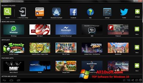 Zrzut ekranu BlueStacks na Windows 10