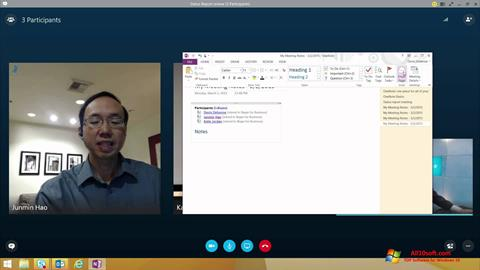 Zrzut ekranu Skype for Business na Windows 10