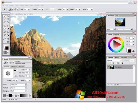 Zrzut ekranu Artweaver na Windows 10
